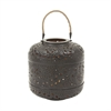 Stylish Metal Rope Candle Lantern, Black