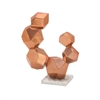 Brilliant Aluminum Sculpture With Marble Base Copper, Copper