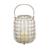 Attractive Glass Metal Lantern Nickel, Silver