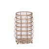 Charming Glass Metal Lantern Copper, Copper