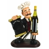 Benzara Polystone Chef Wine Holder Black 20 Inches High