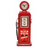 Benzara Wood Gas Pump Clock Red For Time Track