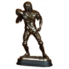 Benzara Brown Polystone Football Player Beautifully Carved