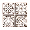 Benzara Metal Wall Decor Set Of 4 A Low Priced Wall Decor
