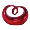 Benzara Contemporary Polystone In Round Shape Abstract Sculpture In Red