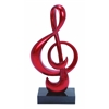 Benzara Strong Polystone Foil Finish Red Sculpt In Musical Note Shape