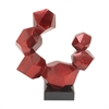 Charming Ps Red Sculpture, Red and Black