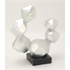 Glamorous Ps Silver Sculpture, Silver and Black