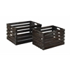 Benzara Style Wood Wine Crate Crafted From Solid Wood - Set Of 2