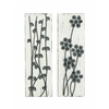 Benzara Pine Wood Metal Wall Décor Assorted With Beautiful Wild Floral