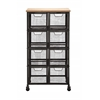 Organize With Metal Wood Storage Cabinet