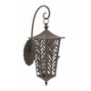 "Exceptional Metal Candle Wall Lantern 14""W, 28""H"