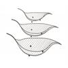 "Benzara Classy Metal Leaf Set Of 3 19"", 22"", 23""W"