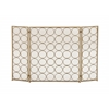"Benzara Remarkable Metal Fire Screen 47""W, 32""H"