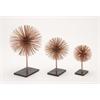 """Benzara Classy Metal 3D Table Top Set Of 3 D12"""", D9"""", D6"""