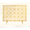 "Wonderful Metal Fire Screen 38""W, 28""H"