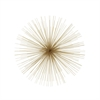 Classy Metal Gold Wire Wall Decor, Golden