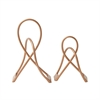 Quirky Metal Copper Sculpture, Copper, Set Of 2