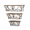 Benzara Classic Metal Wall Shelf With Sublime Curves - Set Of 3
