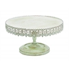 Benzara Strong And Stylish Cake Stand In Metal With Soft White Polish