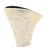 Smart Ceramic Shell Vase, Gold