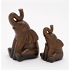 Artistic Ceramic Elephant, Brown, Set Of 2