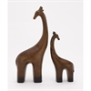 Modern Ceramic Giraffe, Brown, Black, Set Of 2