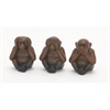 Captivating Ceramic Monkey, Brown, Black, Set Of 3