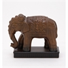 Artistic Ceramic Elephant, Natural Brown, Black