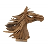Benzara Artistic And Gorgeous Wood Teak Horse Head