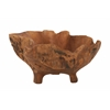 "Benzara Teak Wood Footed Bowl 21""W, 10""H"