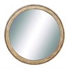 Benzara Mirror In Matte Polished With Dull Cream Finish