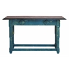 Durable Multi Purpose Wood Table In Sober Blue Finish