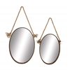 Benzara The Oval Set Of 2 Metal Mirror