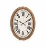 Benzara Fascinating Styled Wood Rowall Clock