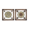 Attractive Metal Wood Wall Plaque 2 Assorted