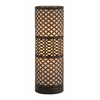 Benzara Elegant Modish Styled Metal Cylinder Table Lamp