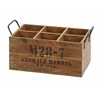 Benzara Wood Wine Crate Suitable For Your Home Bar