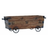 Benzara Wood Cart A Wood Storage Crate