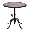 "Benzara Metal Wood Round Table 30""H, 30""W Accent Collection"
