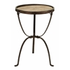 "Benzara Metal Wood Side Table 27""H,18""W Accent Collection"