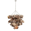 Artistic Shell Metal Chandelier, Shade of brown