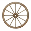 Benzara Metal Wagon Wheel With Long Lasting Construction