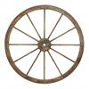 Benzara Metal Wagon Wheel With Intricate Detailed Work