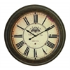 Benzara Metal Wall Clock Dial Makes It Real Antique