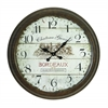 Benzara Metal Wall Clock With Dial Face Of 1971 Bordeaux Clock