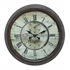 Benzara Long Lasting Metal Wall Clock For Trendy Look