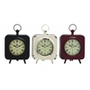 Benzara Attractive Styled Yangtze Metal Table Clock 3 Assorted