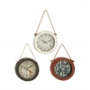 Benzara Enthrallingly Styled 3 Assorted Metal Wall Clock