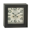 Benzara Classy Square Shaped Metal Wall Clock